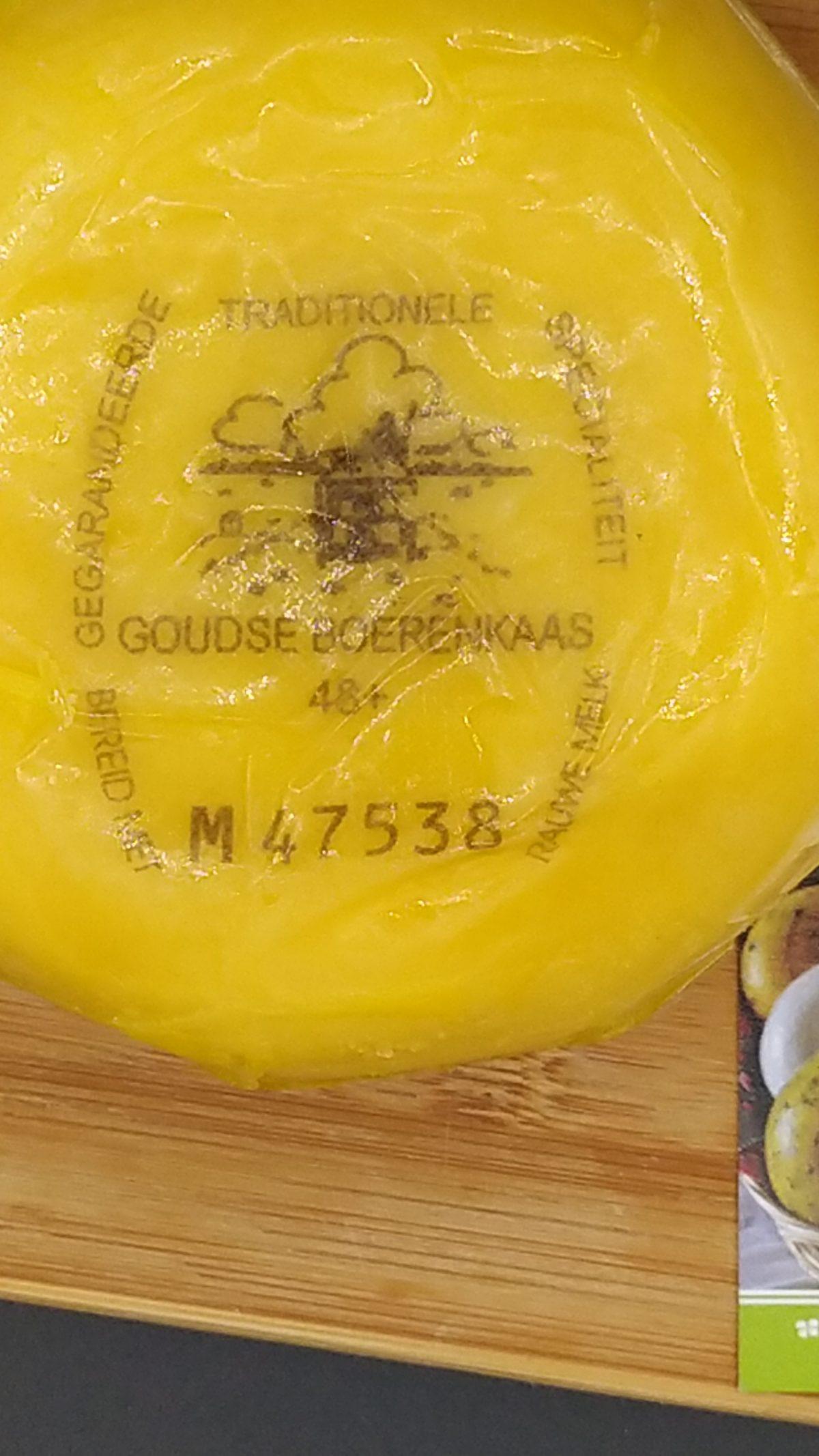 Etichetta Gouda naturale