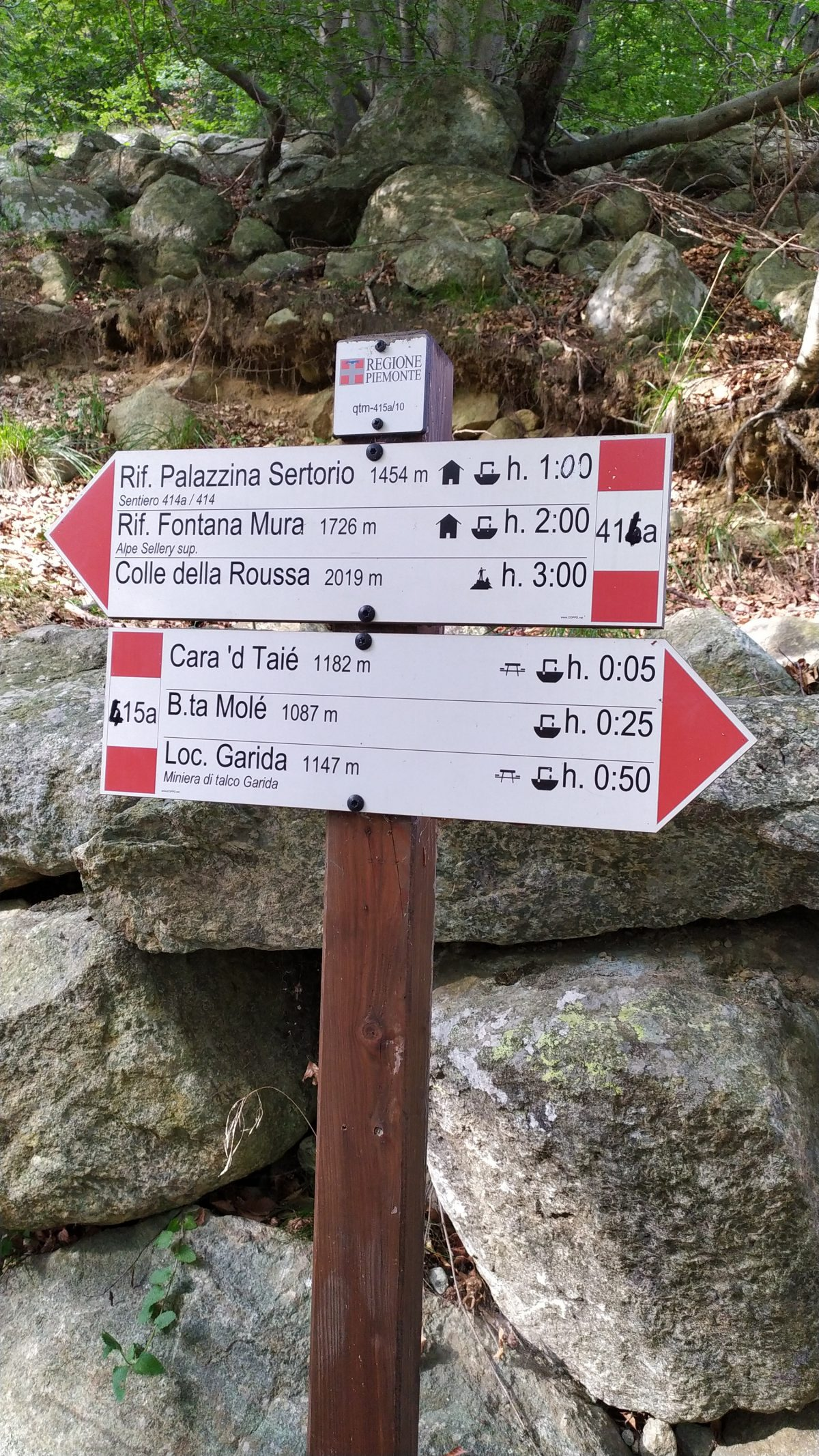 Rifugio Fontana Mura - Indicazioni